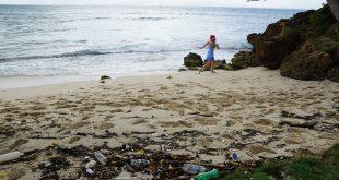 plástico en el índico