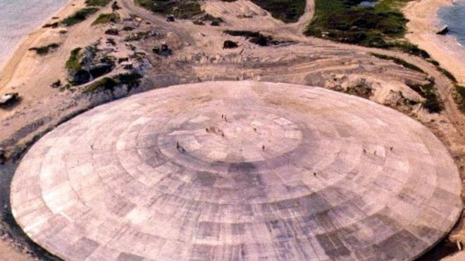 cupula domo nuclear runit pacifico ensayos nucleares