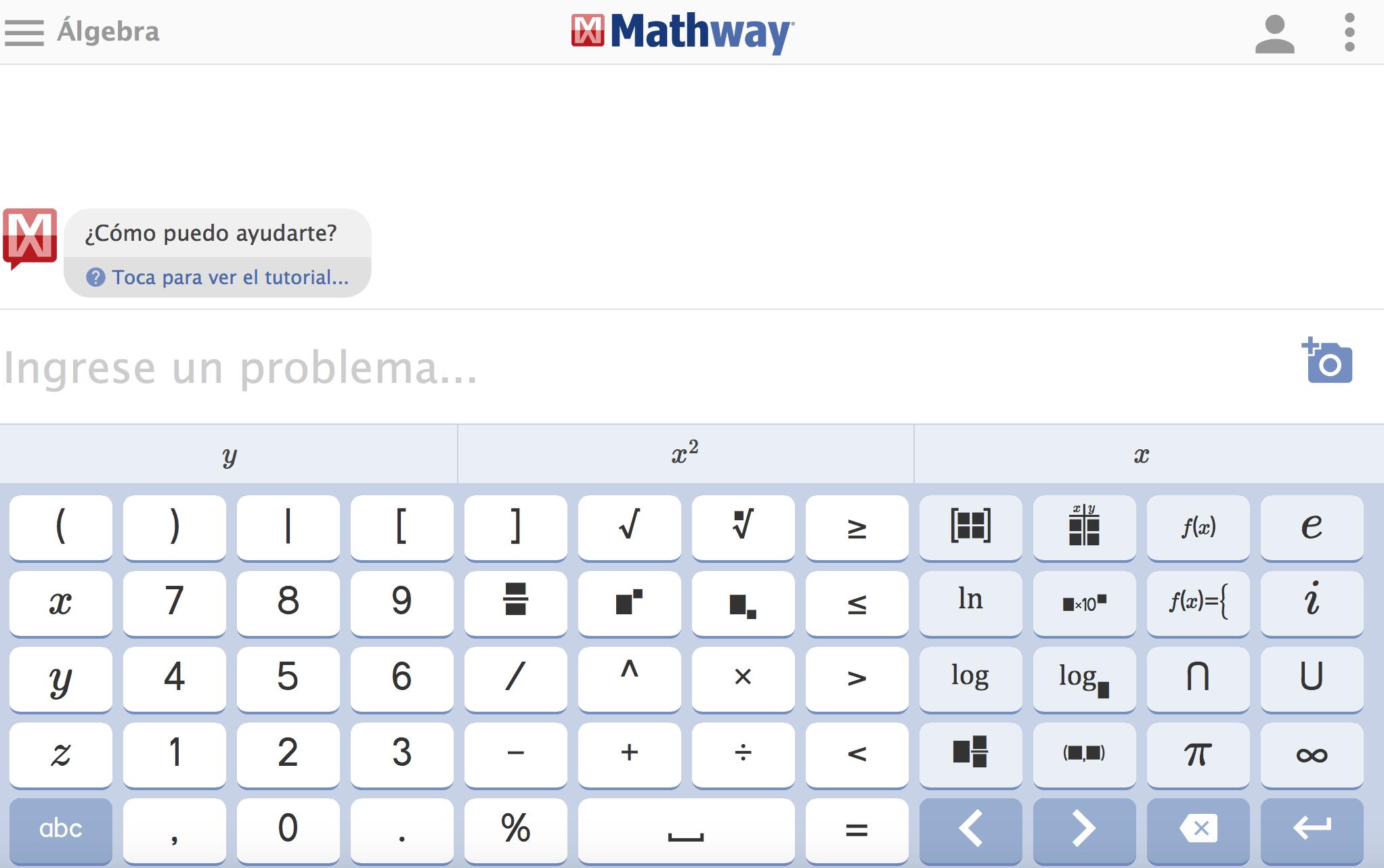 mathway solucionador de ecuaciones álgebra